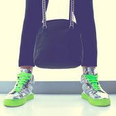 Glamorous fashion gumshoes — Stock Photo