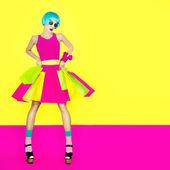 Shopping crazy girl — Stock Photo