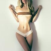 Erotic sensual fashion lady — Stock Photo