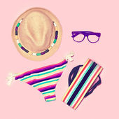 Bright summer beach look. — Stockfoto