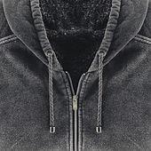 Neatly folded men's hoodies — Stock Photo