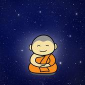 佛教和尚卡通 — 图库照片