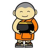 仏教僧漫画 — ストックベクタ