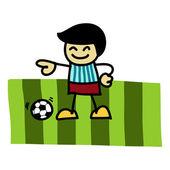 Soccer player cartoon — Stock Vector