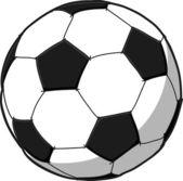 Hand writing soccer ball ( Football ) cartoon . — Stock Vector