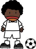 サッカーの選手の漫画 — ストックベクタ
