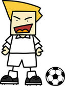 Soccer player cartoon — Vecteur