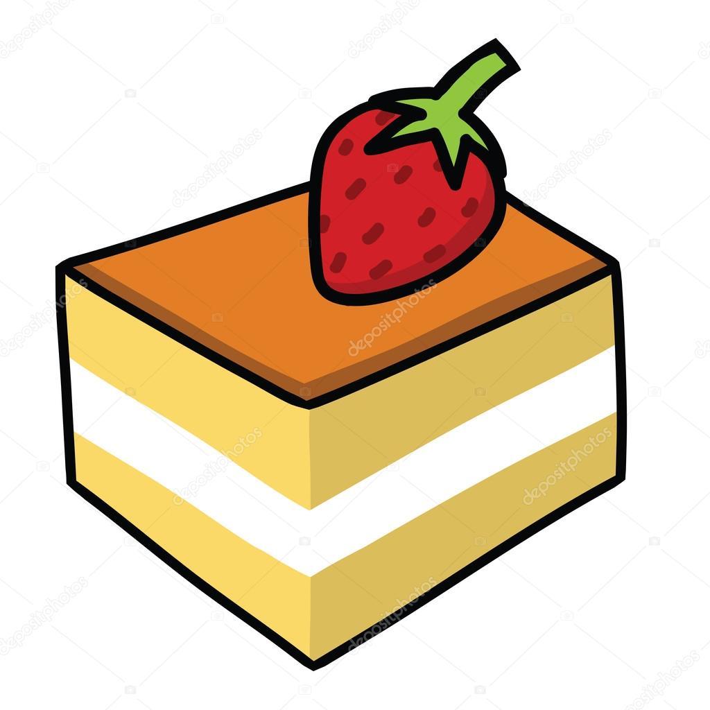 Cartoon Birthday Cake Black And White