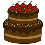 Cartoon cake — Stock Vector