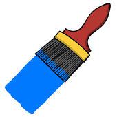 Χρώμα βούρτσα χέρι γραφής κινουμένων σχεδίων — Διανυσματικό Αρχείο