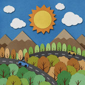 Nature view recycled paper craft Background — Stock Photo