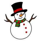Cartone animato di Natale pupazzo di neve. — Vettoriale Stock