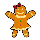 Gingerbread cookies Hand writing cartoon. — Stockvector