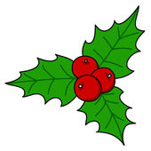 Holly berry - Christmas — Vector de stock
