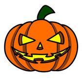 Halloween Pumpkin on white background — Stock Vector