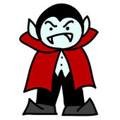 Prince Dracula on a white background vector illustration cartoon — Stock Vector