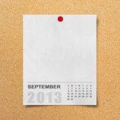 Calendar 2013 on blank note paper . — Stock Photo