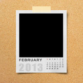 Calendar 2013 on photo background . — Stock Photo