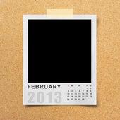 Calendar 2013 on photo background . — Stock Photo
