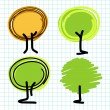 Trees in graphic Illustrator — Stock Vector