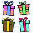Stock Vector: Vector gift box set