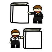 Business man and woman cartoon. vector — Stock Vector