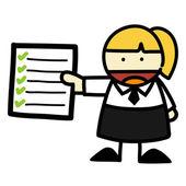 Dibujos animados de hombre y mujer de negocios. vector — Vector de stock