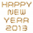 Happy new year 2013 recycled papercraft background. — Stock Photo #15377561