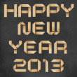 Happy new year 2013 recycled papercraft background. — Stock Photo #15377635