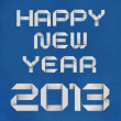 Stock Photo: Happy new year 2013 recycled papercraft background.
