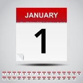 Kalender auf weißes papier hinweis. — Stockvektor