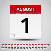 Kalendarz na białym papierze uwaga. — Wektor stockowy