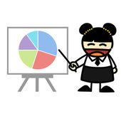 Hand-draw business cartoon. — Stock Vector