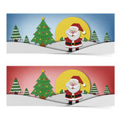 Santa claus recycled papercraft on paper background. — Stock Photo