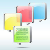 Abstract 3D speech bubble background. — Stock Vector