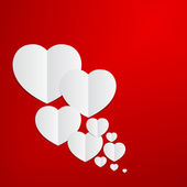 Abstract Red Heart paper background. — 图库矢量图片