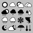 Royalty-Free Stock Vector Image: Icon set of weather