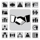 Zestaw ikon biurowych i biznesowych — Wektor stockowy