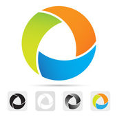 Abstract colorful logo,design element — ストックベクタ