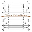 Set of calligraphic design elements .eps10 - Stock Vector