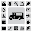 Stock Vector: Education icons set. Illustration