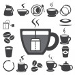 Coffee cup and Tea cup icon set.Illustration — Stock Vector #22157935