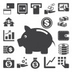 Finance and money icon set.Illustration eps10 — Stock Vector