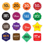 Set of business vintage badges and labels. — Stock Vector