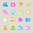 Office sticker icons set. - Stockvektor