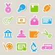 Stock Vector: Education icons set. Illustration.