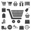 Shopping icons set. Illustration - Stock Vector