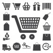 Stock Vector: Shopping icons set. Illustration
