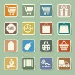 Shopping sticker icons set. — Stock Vector #24465539