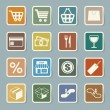 Shopping sticker icons set. — Stock Vector #24465551